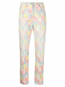 M Missoni tie-dye straight leg jeans - ORANGE
