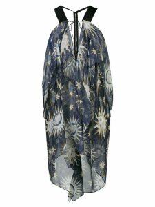 Maison Rabih Kayrouz asymmetric printed tunic top - Blue