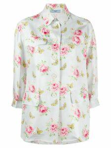 Prada roses and butterflies print shirt - Blue