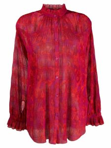 Escada Sport floral print blouse - Red