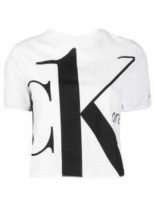 Calvin Klein Jeans cropped logo T-shirt - White