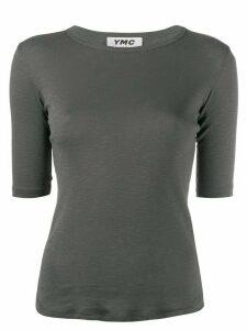 YMC plain fitted T-shirt - Grey