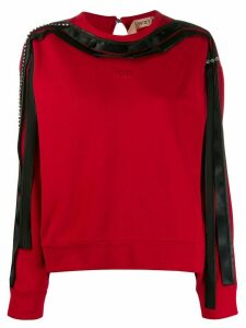 Nº21 ribbon trimmed sweatshirt - Black
