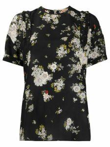 Nº21 silk floral print blouse - Black