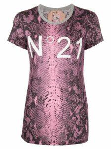 Nº21 snakeskin print T-shirt - PINK