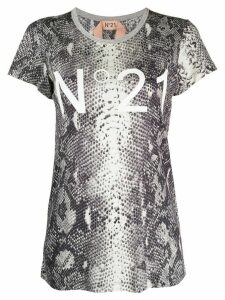 Nº21 snakeskin print T-shirt - Grey