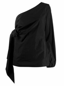 Nº21 one shoulder draped blouse - Black
