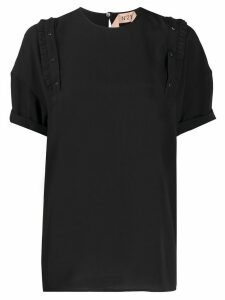 Nº21 ruffle detail t-shirt - Black