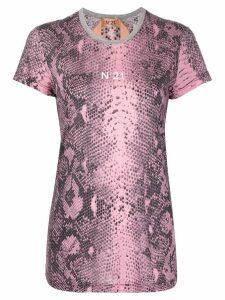 Nº21 snake skin T-shirt - PINK