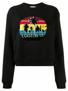 Nº21 graphic print jumper - Black