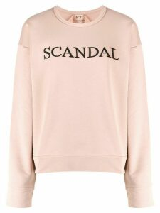 Nº21 Scandal embroidery sweatshirt - PINK
