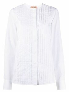 Nº21 button-front pleated shirt - White