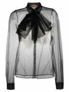 Nº21 sheer bow-embellished blouse - Black