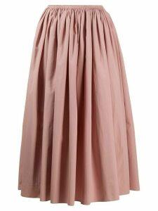 Marni flared midi skirt - PINK