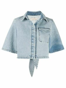 Ssheena bleached denim shirt - Blue