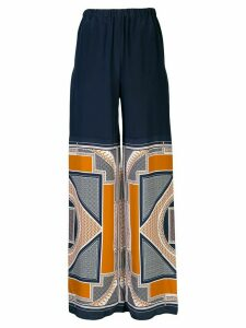 Rosetta Getty geometric wide-leg trousers - Blue