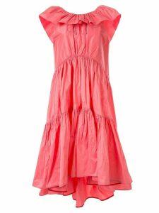 Roksanda ruffled tafetta dress - PINK