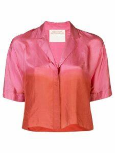 Alejandra Alonso Rojas silk colour-block blouse - PINK