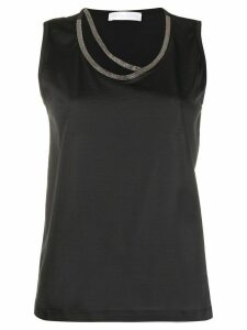 Fabiana Filippi metallic embellished tank top - Black