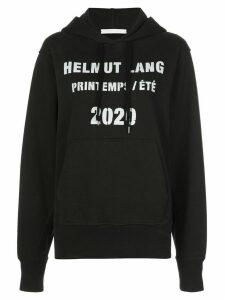 Helmut Lang logo print hoodie - Black