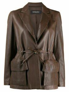 Simonetta Ravizza laser-cut sleeves jacket - Brown