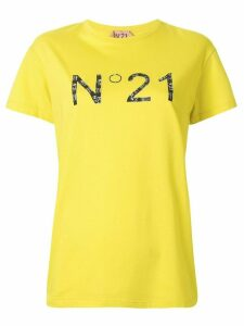 Nº21 collage print logo T-shirt - Yellow