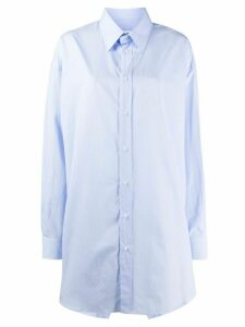 Maison Margiela oversized button-up shirt - Blue