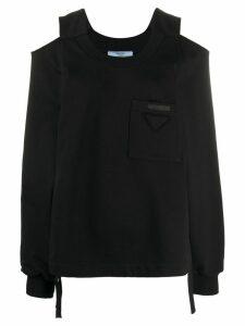 Prada cut-out jumper - Black