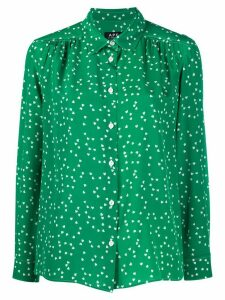A.P.C. silk long sleeve blouse - Green