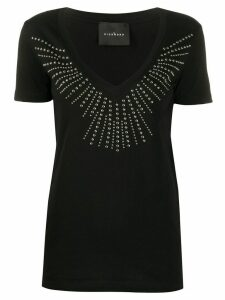 John Richmond studded V-neck T-shirt - Black