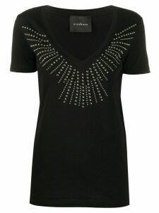 John Richmond studded V-neck T-shirt - Black