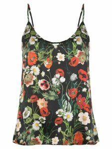 Madison. Maison Lori floral-print silk top - Black
