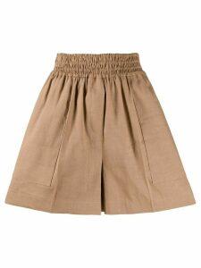 Brunello Cucinelli shirred wide-leg shorts - NEUTRALS