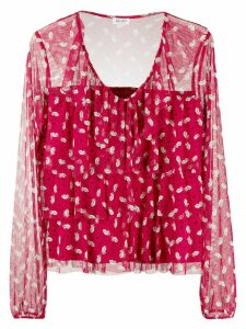 LIU JO kiss print blouse - Red