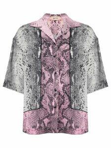 Nº21 snakeskin-printed shirt - PINK
