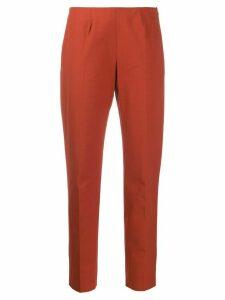 Piazza Sempione slim fit tapered trousers - ORANGE