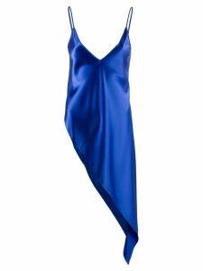 Ssheena high-low hem top - Blue