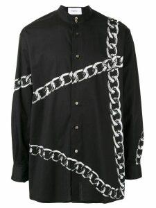 Ports V chain print shirt - Black