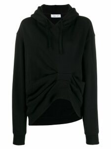 Act N°1 losse-fit gathered detail hoodie - Black