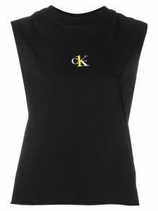 Calvin Klein Jeans logo print vest top - Black
