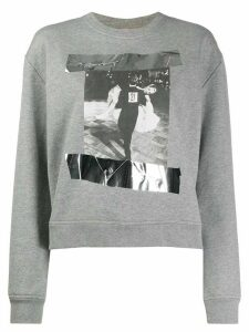 Nº21 photographic print sweatshirt - Grey