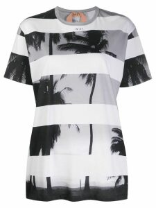 Nº21 palm trees print T-shirt - White