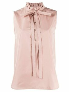 Nº21 high ruffle neck blouse - PINK