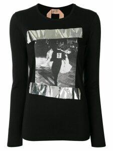 Nº21 ballroom-print long-sleeve T-shirt - Black