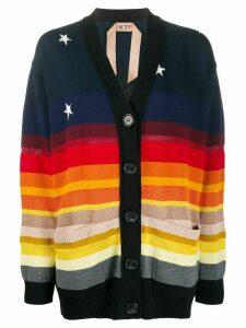 Nº21 deep v-neck cardigan - NEUTRALS