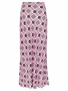 Rixo Kelly floral print maxi skirt - PINK