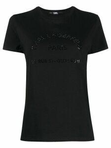 Karl Lagerfeld Rue St. Guillaume rhinestone T-shirt - Black