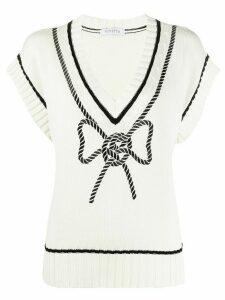 Vivetta braided bow pullover - White