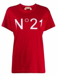 Nº21 logo print T-shirt - Red
