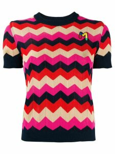 M Missoni zigzag knit top - Blue